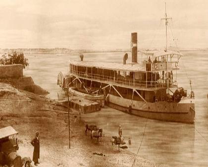 کشتیرانی در رود کارون  روبروی معین التجار اهواز